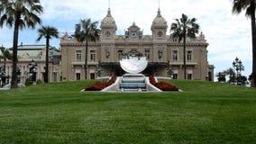 Vista dell'esterno del casinò del ` s di Monte Carlo stock footage