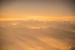 Vista dell'Himalaya dall'aeroplano Immagine Stock