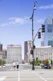 Vista dell'hotel della plaza del congresso Fotografie Stock Libere da Diritti