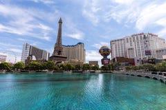 Vista dell'hotel di Parigi Las Vegas e del casinò, LAS VEGAS, U.S.A. Fotografia Stock