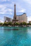 Vista dell'hotel di Parigi Las Vegas e del casinò, LAS VEGAS, U.S.A. Immagini Stock Libere da Diritti