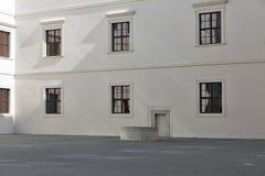 Vista dell'iarda interna del castello di Bratislava, Slovacchia Fotografie Stock