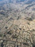 Vista dell'India dicembre 2015 - dalla finestra dell'aeroplano Fotografia Stock Libera da Diritti