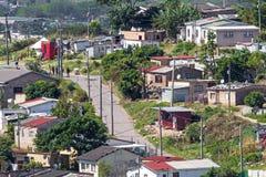 Vista dell'insediamento urbano residenziale ammucchiato di basso costo Immagine Stock Libera da Diritti