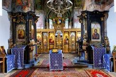 Vista dell'interno del monastero di Bezdin Fotografie Stock Libere da Diritti