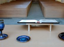 Vista dell'interno della chiesa Immagine Stock Libera da Diritti
