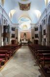 Vista dell'interno della chiesa cattolica Immagini Stock