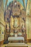 Vista dell'interno della chiesa di Riobamba Immagini Stock Libere da Diritti