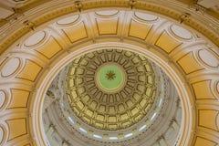 Vista dell'interno di Texas State Capitol situato nel downt fotografie stock libere da diritti