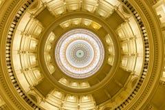 Vista dell'interno di Texas State Capitol situato nel downt fotografie stock