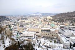 Vista dell'inverno Salisburgo Fotografia Stock