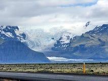 Vista dell'Islanda del ghiacciaio 2017 di Skaftafell Fotografia Stock