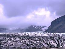Vista dell'Islanda della moraine 2017 del ghiacciaio di Skaftafellsjokull Fotografie Stock Libere da Diritti