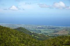 Vista dell'isola dalla montagna Le Morn Fotografia Stock Libera da Diritti