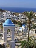 Vista dell'isola dell'IOS in Cicladi, immagini stock libere da diritti