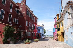 Vista dell'isola di Burano Fotografia Stock Libera da Diritti
