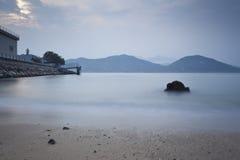 Vista dell'isola di Chueng Chau Immagine Stock