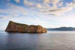 Vista dell'isola di Dragonera (Spagna) Fotografia Stock