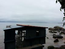 Vista dell'isola di Florianopolis Fotografia Stock Libera da Diritti