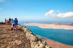 Vista dell'isola di Graciosa fotografie stock libere da diritti