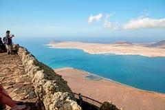 Vista dell'isola di Graciosa immagine stock