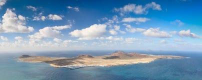 Vista dell'isola di Graciosa della La, Isole Canarie (Spagna) Fotografia Stock