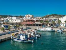 Vista dell'isola di Kardamena del porticciolo di Kos Fotografia Stock Libera da Diritti