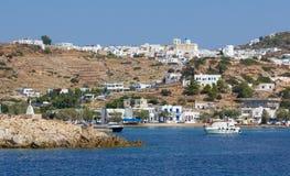 Vista dell'isola di Kimolos, Cicladi, Grecia immagine stock libera da diritti