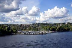 Vista dell'isola di Kungsholmen Immagine Stock Libera da Diritti