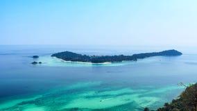 Vista dell'isola di Lipe alta Fotografia Stock Libera da Diritti