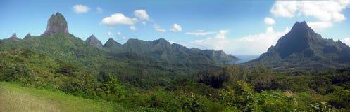 Vista dell'isola di Moorea (Polinesia francese) Fotografia Stock
