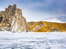 Vista dell'isola di Olkhon nel lago Baikal Immagine Stock Libera da Diritti