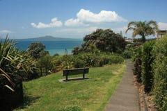 Vista dell'isola di Rangitoto Fotografie Stock Libere da Diritti