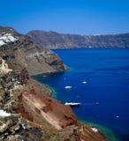 Vista dell'isola di Santorini Immagine Stock