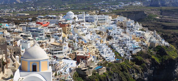 Vista dell'isola di Santorini - Grecia Fotografia Stock
