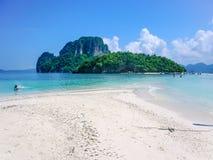 Vista dell'isola di Tup, Koh Tup, mare delle Andamane, Tailandia fotografia stock libera da diritti