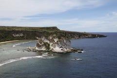 Vista dell'isola di uccello, Saipan fotografia stock