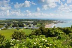 Vista dell'isola di Wight alla baia di Whitecliff e di Bembridge Immagini Stock Libere da Diritti