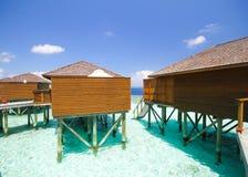 Vista dell'isola Maldive di vilamendhoo Fotografie Stock Libere da Diritti