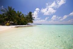 Vista dell'isola Maldive di vilamendhoo Fotografie Stock