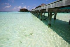 Vista dell'isola Maldive di vilamendhoo Immagini Stock Libere da Diritti