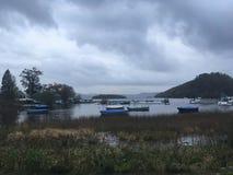 Vista dell'isola in Scozia fotografia stock libera da diritti