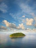 Vista dell'isola tropicale Immagini Stock