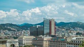 Vista dell'Italia Genova della città da sopra Fotografia Stock