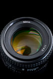 vista dell'obiettivo di 50mm dalla parte superiore. Immagine Stock