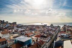Vista dell'occhio del ` s dell'uccello di Lisbona Fotografia Stock Libera da Diritti