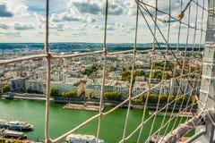 Vista dell'occhio di Bird's di Parigi Albero nel campo Fotografia Stock Libera da Diritti