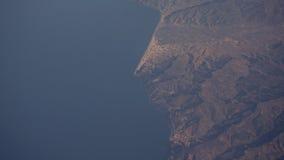 Vista dell'occhio di Dio dell'oceano e zona del Marocco Immagine Stock Libera da Diritti