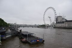 Vista dell'occhio di Londra immagine stock libera da diritti