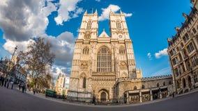 Vista dell'occhio di pesce dell'abbazia di Westminster a Londra Immagini Stock Libere da Diritti